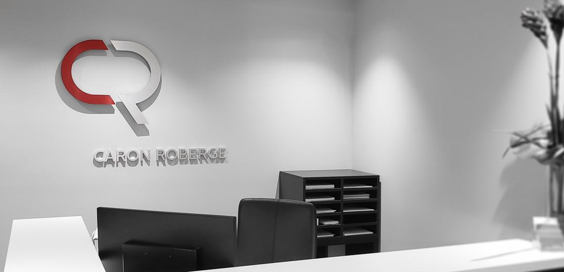 Réception du bureau d'avocats Caron Roberge