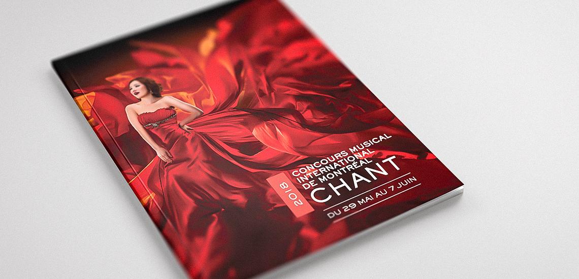 Couverture du programme officiel de l'édition Chant 2018 du CMIM
