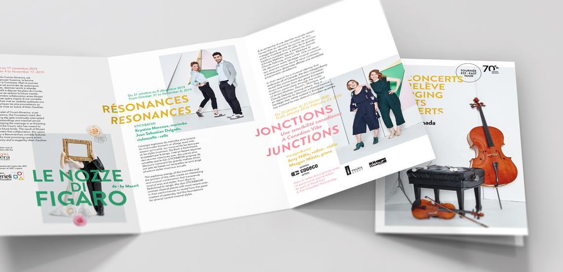Dépliant des Concerts relève 2019-2020 présentés par les JM Canada