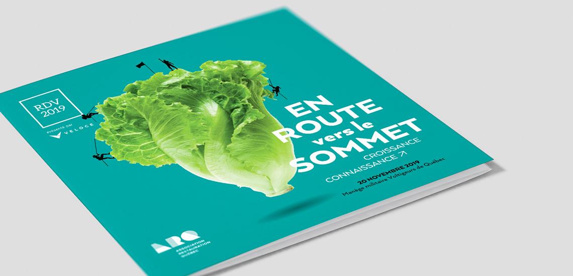 Couverture du dépliant du RDV 2019 organisé par l'Association restauration Québec (ARQ)
