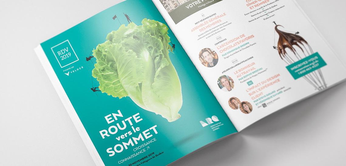 Publicité magazine du RDV 2019 organisé par l'Association restauration Québec (ARQ)
