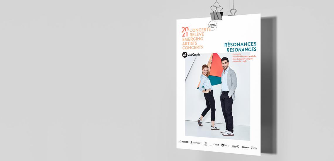 Affiche du concert Résonances présenté dans le cadre des Concerts relève 2020-2021 des JM Canada